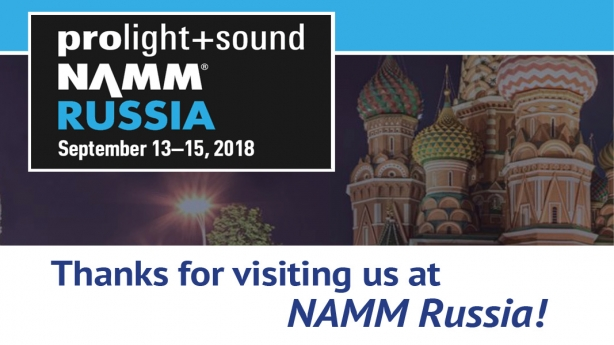 Prolight & Sound NAMM Russia was a great success!