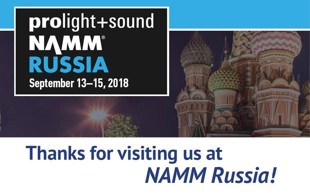 Prolight & Sound NAMM Russia was a great success!
